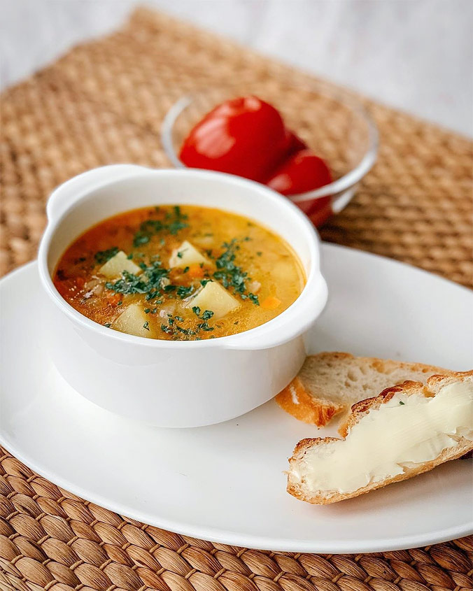 Быстрый французский суп