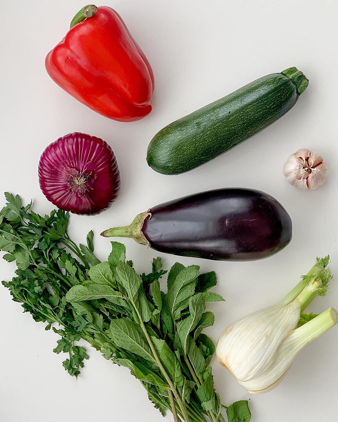 Салат из полбы. Шаг 1. Ингредиенты