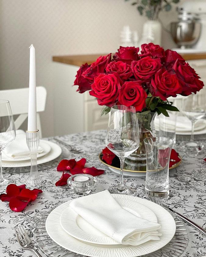 Сервировка «Розы»