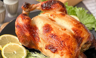 Самая сочная жареная курица