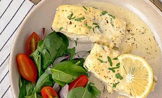 Запеченная рыба в сливочно-лимонном соусе